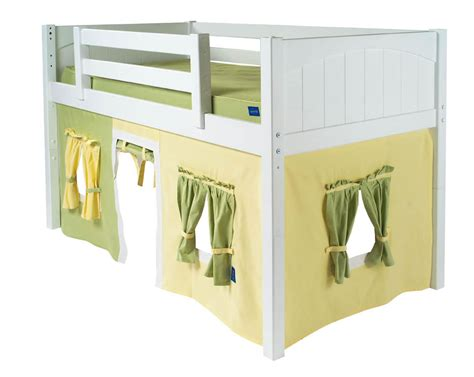 loft bed playhouse curtains maxtrix kids playhouse loft bed with tent and slide