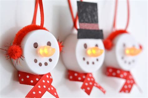 hats for tea light snowman craft cars
