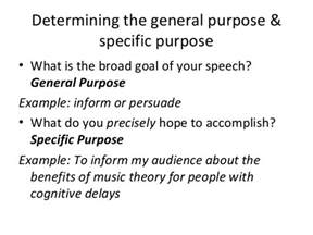 The Purpose Of A Thesis Statement General Purpose Specific Purpose And Thesis Statement