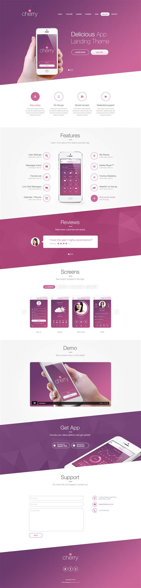 ux design background delicious app landing theme on behance