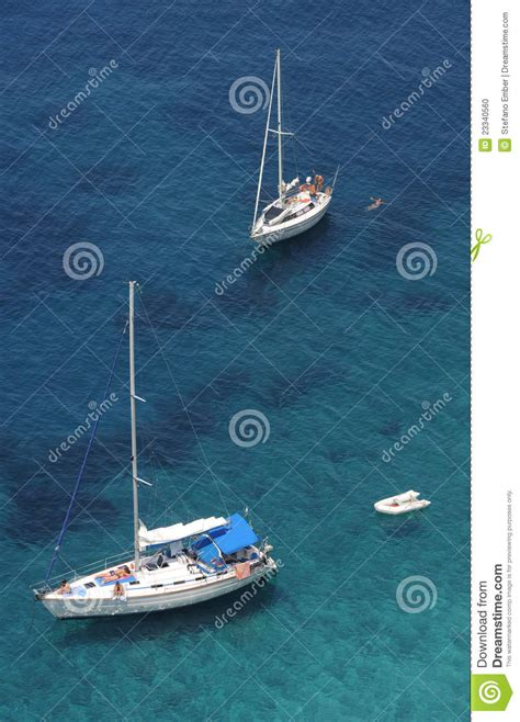 boat to elba sailing boats at punta nera on the coast of elba i stock