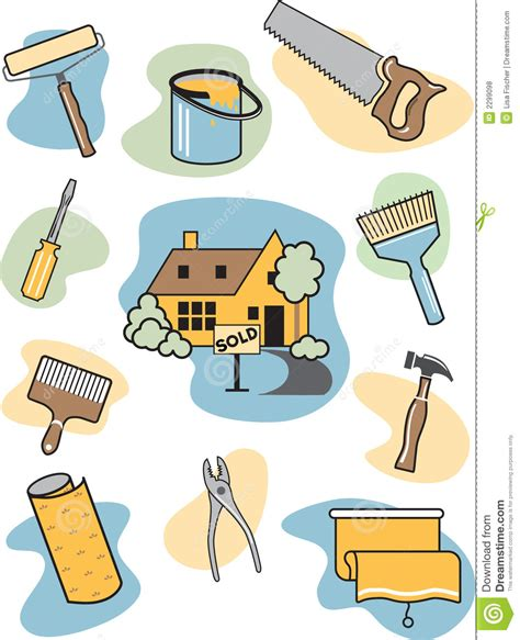home improvement icons royalty free stock photos image