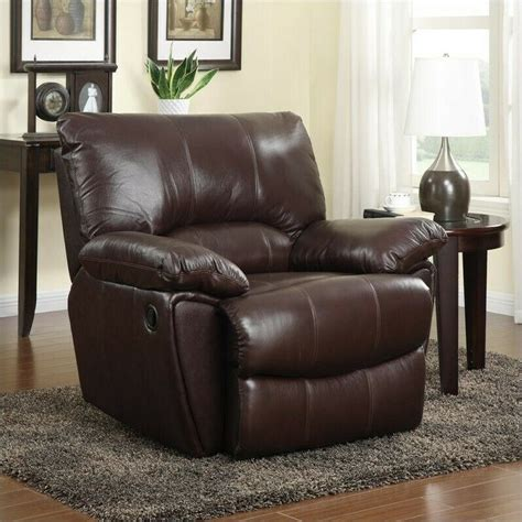 clifford leather recliner chair genuine leather oversized