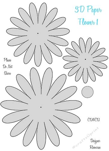 paper flower template 3d 3d paper flower templates cu4cu cup849752 2049