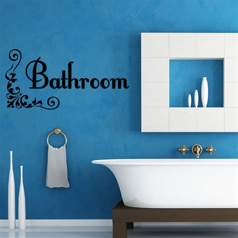 bathroom bath word vinyl decal wall quote lettering