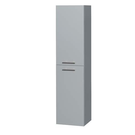 Bathroom Wall Mounted Storage Cabinets Wyndham Wcryv205dg Amare Wall Mounted Bathroom Storage Cabinet In Dove Gray Two Door