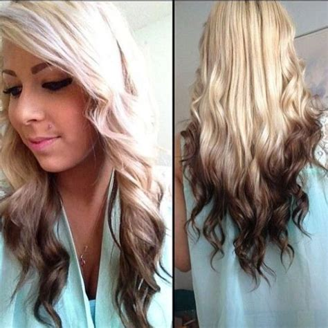hairstyles with dyed ends reverse ombre cool if you re blonde streaks of