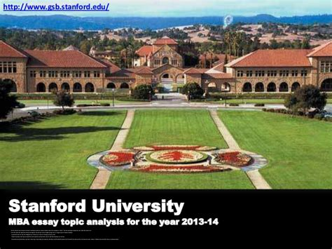 Stanford Mba Class Size by Stanford Mba Essay Topic Analysis 2013 2014