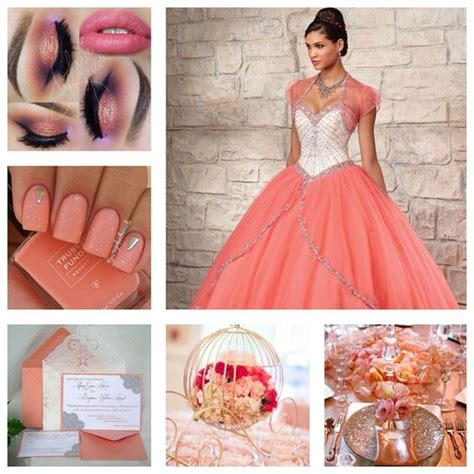 quinceanera themes ideas coral makeup theme ideas and quinceanera dresses on pinterest