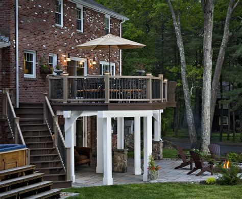 porch deck raised decks elevated to a whole new level by archadeck