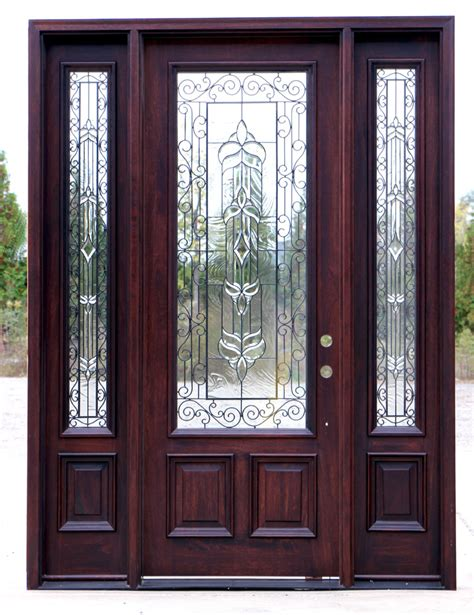 Iron And Glass Front Doors Front Doors With Wrought Iron And Glass