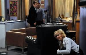 Christmas Dance Party Music - corrie s lloyd and liz s saucy secret is out as her son catches her her hiding behind the sofa