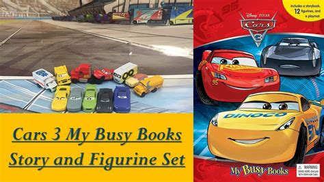 My Busy Book Disney Cars cars 3 disney pixar my busy book with 12 mini figurine