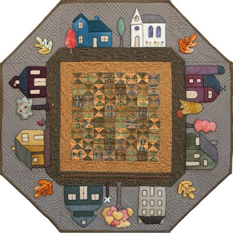prairie town prairie town in autumn quilt pattern house quilts