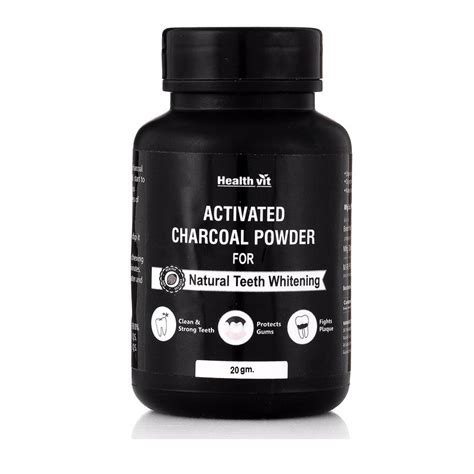 healthvit activated charcoal instant teeth whitening