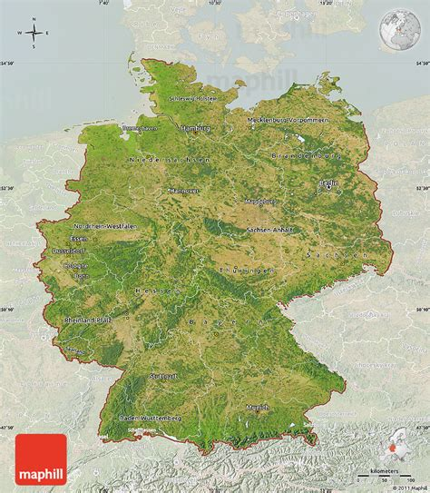 germany satellite map satellite map of germany lighten