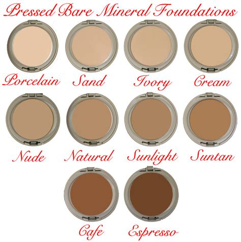 bare minerals foundation colors bare mineral pressed foundation cosmetic makeup