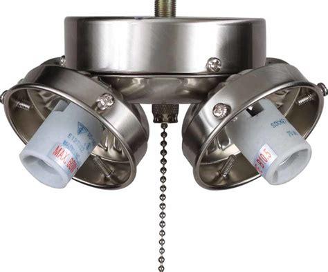 candelabra ceiling fan light kit volume lighting v0984 33 brushed nickel ceiling fan light