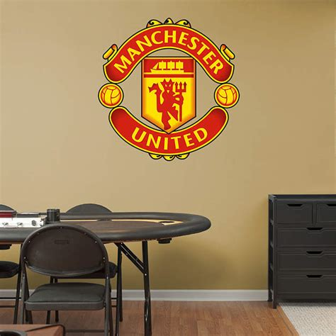manchester united crest wall decal shop fathead 174 for manchester united decor