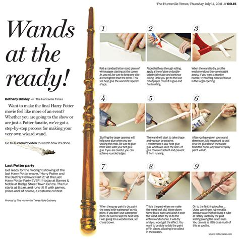 How To Make Harry Potter Wands Out Of Paper - more harry potter magic for us muggles charles apple