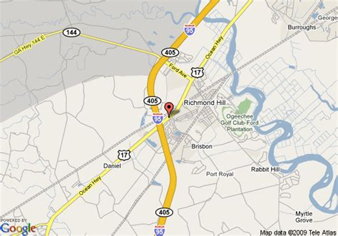 Comfort Suites Richmond Hill Ga by Map Of Comfort Suites I 95 South Richmond Hill