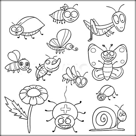 Insect Coloring Pages insects and bugs coloring pages