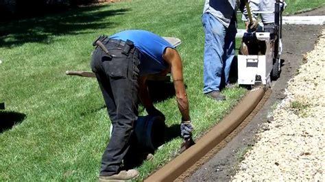 Landscape Edging Machine Rental Curb Creations Concrete Curbing Extrusion Funnydog Tv