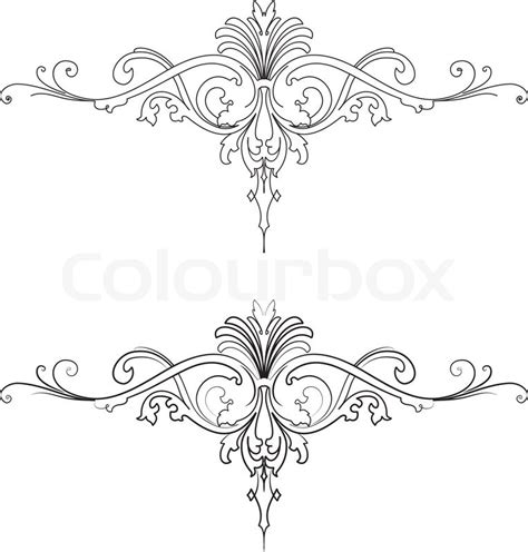 free baroque design elements vector 14 baroque design elements images baroque design element