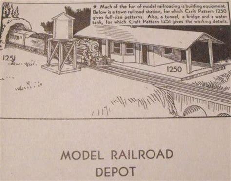 woodworkers depot model railroad depot vintage woodworking plan