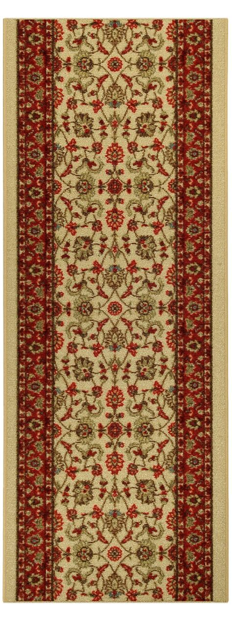 what size is a runner rug custom size stair hallway runner rug rubber back non skid ivory 5082 ebay