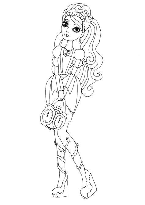 ever after high coloring pages ashlynn ella free printable ever after high coloring pages ashlynn