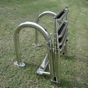 pontoon boat ladder extension newly stainless steel inboard rails boat 4 step