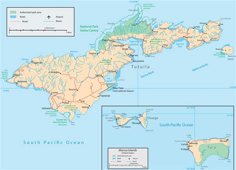 american samoa map map american samoa pago pago