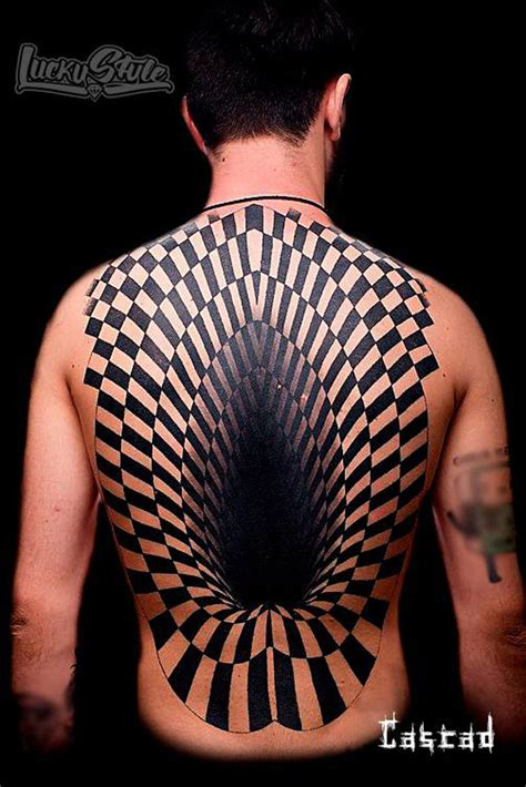 giant hole 3d back piece best tattoo design ideas