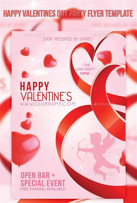 valentines day flyer happy valentines day flyer template flyer template