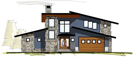 2 Story Great Room House Plans by Modern House Plan With Two Story Great Room 18830ck
