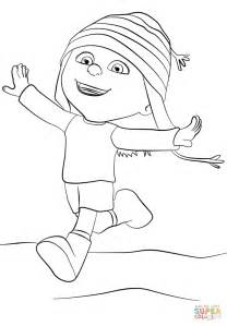 despicable me edith coloring page free printable