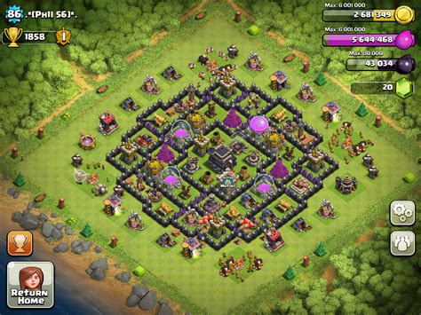 layout coc keren serba ada layout clash of clans