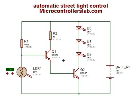 automatic light on off circuit automatic street light control circuit diagram