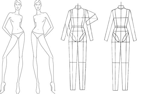 technical drawing templates fashion design croquis templates the croquis part i