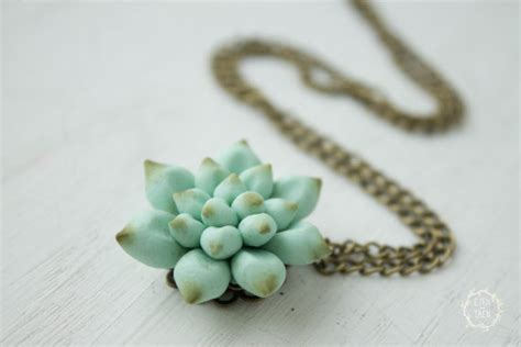 Planter Necklace by Blue Succulent Planter Necklace Pendant Mini Succulent By
