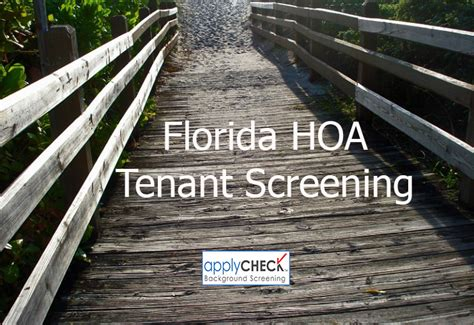 Homeowners Association Background Check Florida Homeowner Association Tenant Screening