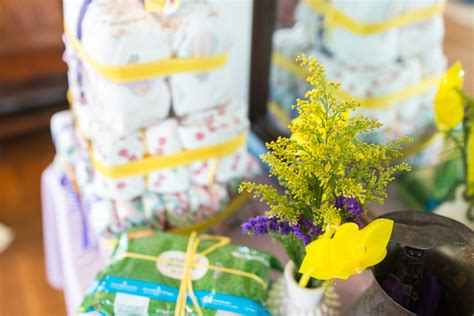 Yellow And Purple Baby Shower by Baby Shower Bebehblog