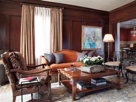 living room wood paneling warm and welcoming living room kathy geissler best hgtv