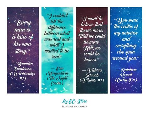 printable bookmarks with quotes from books beautiful printable book s quotes bookmarks lake balboa
