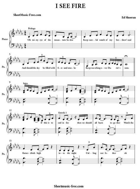 free download mp3 ed sheeran i see fire free sheet music piano download pdf jessie j piano sheet