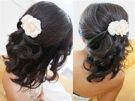 bridal hairstyle for medium hair tutorial weddings prom