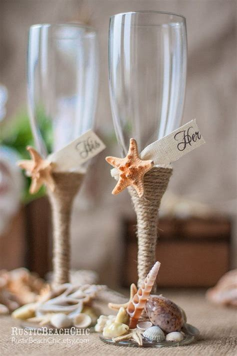 beach wedding champagne flutes – Starfish Wedding Champagne Glasses, Beach Wedding Toasting Flutes In Ivory, Destination Wedding