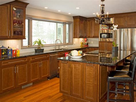 cherry cabinet kitchens cherry kitchen cabinets pictures options tips ideas hgtv