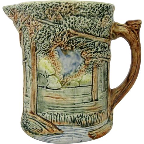 Weller Vase Patterns by Weller Pottery Pitcher Forest Pattern From Hartsong On